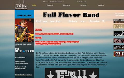 Screenshot of Home Page full-flavor.de - Full Flavor Band - captured June 8, 2018