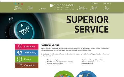 Screenshot of Support Page georgecmoore.com - GEORGE C.MOORE - captured July 17, 2018
