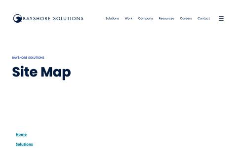 Screenshot of Site Map Page bayshoresolutions.com - Our Sitemap | Bayshore Solutions - captured June 5, 2019