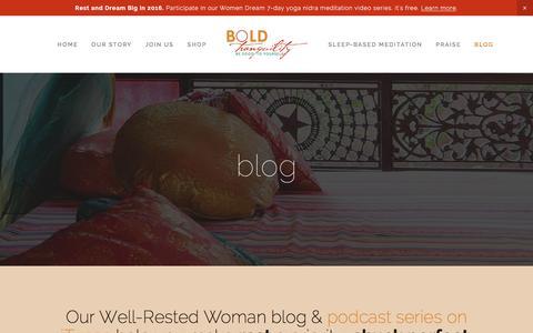 Screenshot of Blog boldtranquility.com - blog Ń Bold Tranquility - captured Jan. 6, 2016