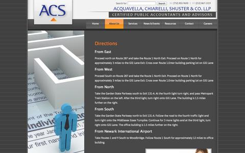 Screenshot of Maps & Directions Page acsaccounting.com - Directions | Acquavella, Chiarelli, Shuster & Co., LLP - captured Oct. 4, 2014
