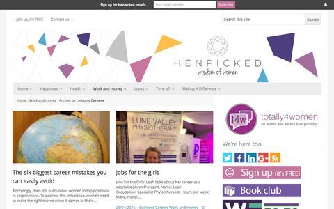 Screenshot of Jobs Page henpicked.net - Careers   Henpicked - captured Sept. 4, 2016