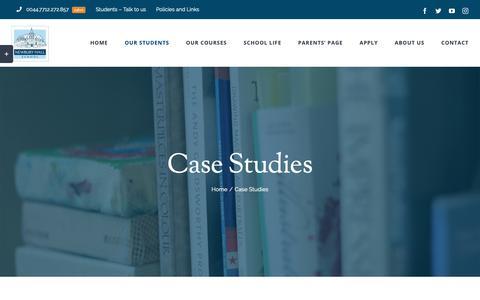 Screenshot of Case Studies Page newburyhall.me - Case Studies – Newbury Hall - captured Oct. 20, 2018