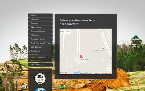 Screenshot of Maps & Directions Page libertypipeline.com - Directions - captured Dec. 17, 2015