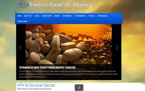 Screenshot of Blog cfoa.org - Cancer Fund of America, Inc. - Cancer Support - captured Oct. 1, 2014