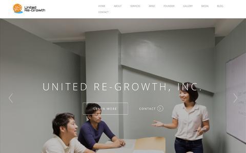 Screenshot of Home Page u-rg.com - ユナイテッド・リグロース株式会社 | United-Re growth,Inc - captured Feb. 10, 2016