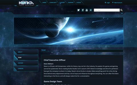 Screenshot of Team Page konkastudios.com - Team | Konka - Take Control - captured Oct. 29, 2014