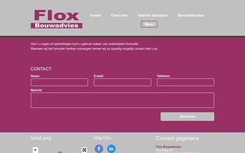 Screenshot of Contact Page floxbouwadvies.nl - Contact - captured June 6, 2017