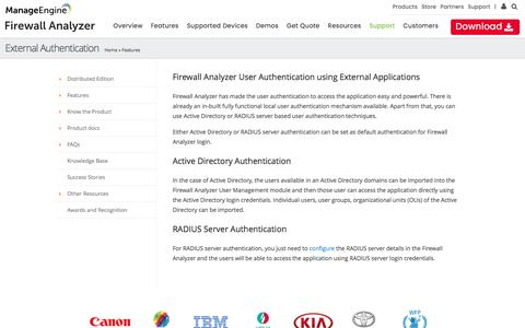User Authentication using Active Directory and RADIUS Server :: Firewall Analyzer