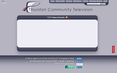 Screenshot of Press Page tctv.net - TCTV News & Events - Thurston Community Television, Thurston County, Olympia, Lacey, Tumwater - captured Dec. 2, 2016