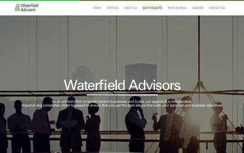 Screenshot of Home Page waterfieldadvisors.com - Waterfield Advisors - captured Feb. 24, 2016