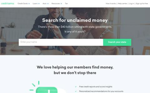 Unclaimed Money & Unclaimed Property Search | Credit Karma