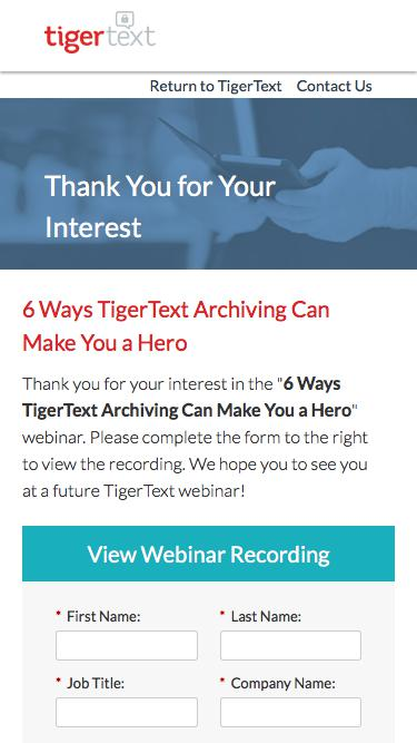 6 Ways TigerText Archiving Can Make You a Hero