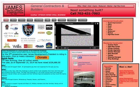 Screenshot of Home Page jamesdevcorp.com - General Contractors Las Vegas - captured Oct. 6, 2014