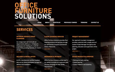Screenshot of Services Page ofsonline.com - OFS - Services - captured Oct. 6, 2014