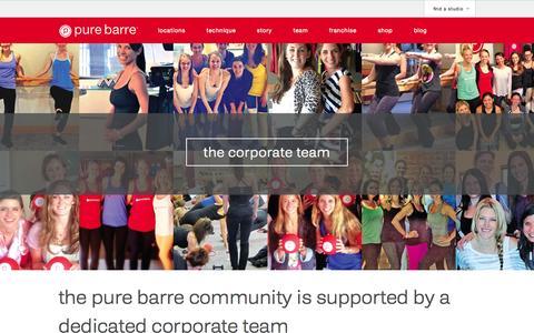 Screenshot of Team Page purebarre.com - team - Pure Barre - captured Sept. 22, 2014