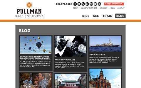 Screenshot of Blog travelpullman.com - Blog - Pullman Rail Journeys - captured Nov. 13, 2016