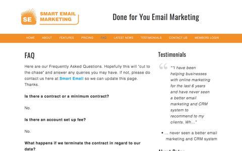 FAQ - Smart Email
