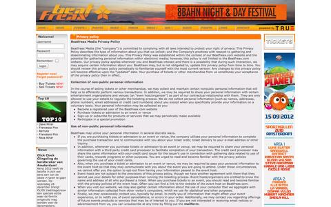 Screenshot of Privacy Page beatfreax.com - Beatfreax - Electronic Music Platform - captured Oct. 5, 2014