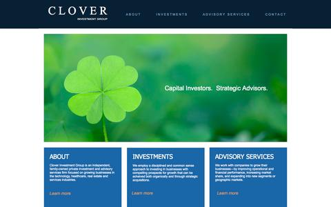 Screenshot of Home Page cloverinvestments.com - clover - captured Oct. 6, 2014