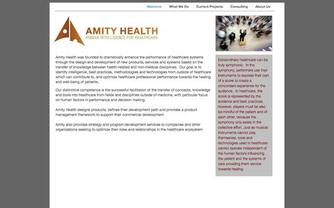 Screenshot of Home Page amityhealth.com captured Oct. 4, 2014
