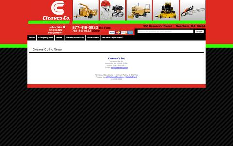 Screenshot of Press Page cleavesco.com - Cleaves Co Inc News - captured Oct. 2, 2014