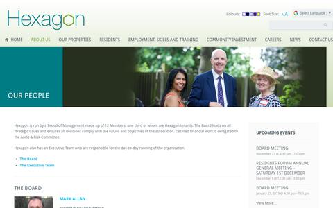 Screenshot of Team Page hexagon.org.uk - Our People | Hexagon Housing Association - captured Nov. 27, 2018
