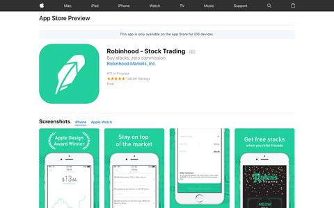 Robinhood - Stock Trading on the App Store