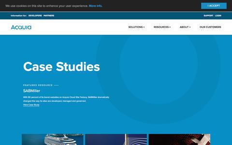 Screenshot of Case Studies Page acquia.com - Case Studies | Acquia - captured Dec. 14, 2017