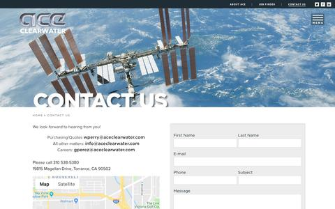 Screenshot of Contact Page aceclearwater.com - CONTACT US – Ace Clearwater Enterprises - captured Oct. 3, 2018