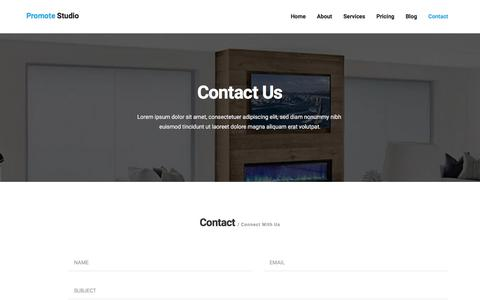 Screenshot of Contact Page thesmartdigital.com - Promote-Digital marketing agency - captured Sept. 26, 2018