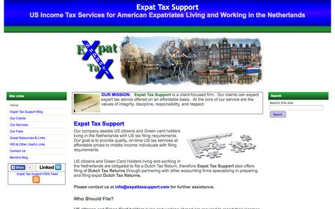 Screenshot of Home Page expattaxsupport.com - Expat Tax Support | US Income Tax Services for American Expatriates Living and Working in the Netherlands - captured Jan. 27, 2015