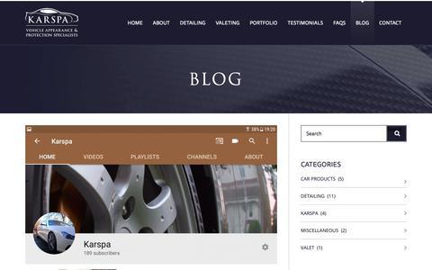 Screenshot of Blog karspa.co.uk - Karspa - Blog - captured Oct. 15, 2018