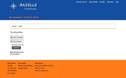 Screenshot of Login Page bazelle.com - Login - captured Nov. 6, 2018