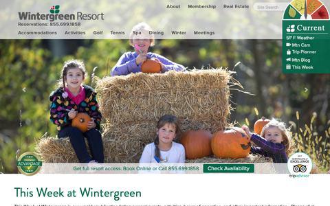 Screenshot of Hours Page wintergreenresort.com - Wintergreen Resort: Premier Blue Ridge Mountain Ski, Golf, Tennis, Spa and Family Vacation Resort in Virginia - captured Oct. 19, 2018