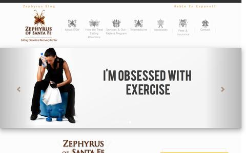 Screenshot of Home Page zephyrusofsantafe.com - Eating Disorder Treatment & Therapy | Zephyrus of Santa Fe - captured Dec. 19, 2016