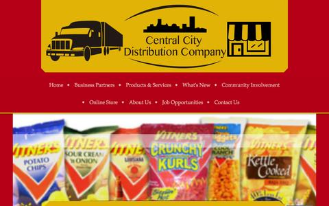 Screenshot of Site Map Page centralcitydist.com - Central City Distribution Co - Home - captured Jan. 26, 2016