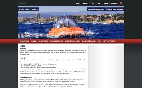 Screenshot of Terms Page uboatworx.com - U-Boat Worx - captured Sept. 30, 2014