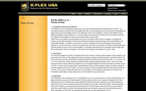Screenshot of Terms Page kflexusa.com captured Dec. 8, 2018