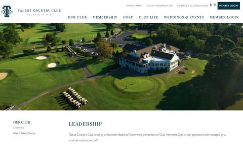Screenshot of Team Page talbotcc.com - Leadership - Talbot Country Club - captured Oct. 18, 2018