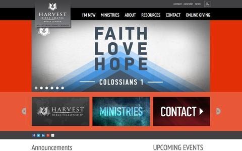 Screenshot of Home Page harvestkl.org - Harvest Bible Chapel KL Home - captured Oct. 2, 2014