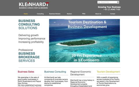 Screenshot of Home Page kleinhardt.com.au - Kleinhardt Business Consultants & Business Brokers - captured Nov. 27, 2016
