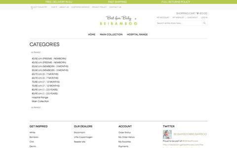 Screenshot of Site Map Page beibamboo.com - Site Map - captured Nov. 5, 2014