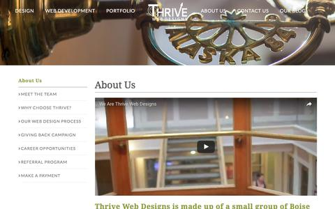 About Us | Boise Web Design Team | Thrive Web Designs of Idaho