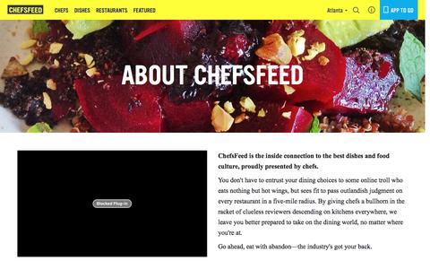 Screenshot of About Page chefsfeed.com - About Us   ChefsFeed - captured Dec. 18, 2015
