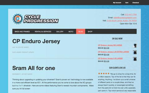 Screenshot of Blog cycleprogression.com - Blog - Cycle Progression - captured Sept. 30, 2014