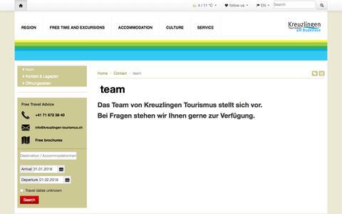Screenshot of Team Page kreuzlingen-tourismus.ch - team - Thurgau Tourism - Contact - captured Feb. 1, 2018