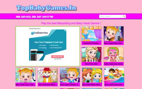 Screenshot of Home Page topbabygames.in - Baby Games Online for Free - captured Jan. 18, 2016