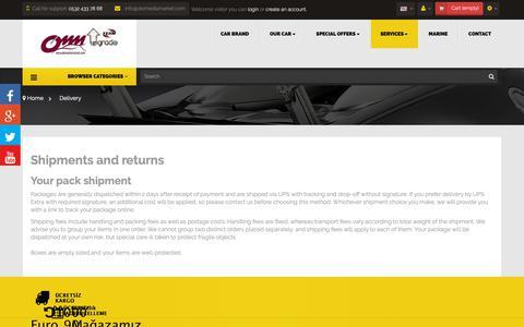 Screenshot of Services Page otomediamarket.com - Delivery - OTOMEDİAMARKET - captured Oct. 27, 2018