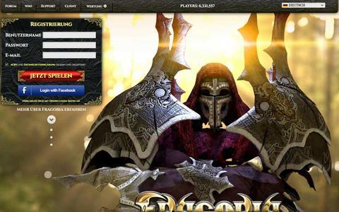 Screenshot of Press Page fragoria.com - Free Epic Fantasy Browser MMORPG Fragoria - captured Oct. 10, 2014